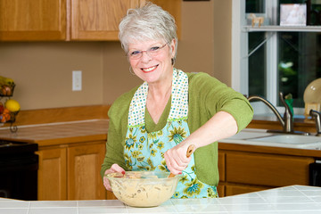 Mature Woman Baking Cookies