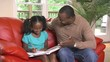 Father helps daughter with homework - 120