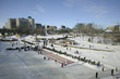 Fun on the frozen river, The Forks, Winnipeg, Manitoba