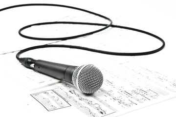 Microphone on music scores