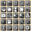 Set darkly - white buttons with web icons for the internet (2)