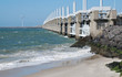 storm surge barrier protects land against flooding