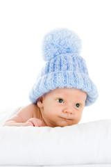 Baby in bobble hat