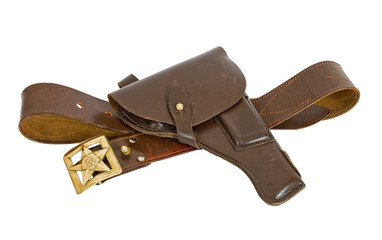 Old belt and old holster