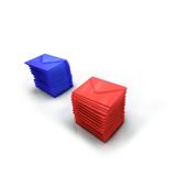 Illustration bulletins de vote 3D rouge bleu poster