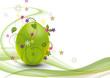 Leinwanddruck Bild - Bunte Ostern in Grün