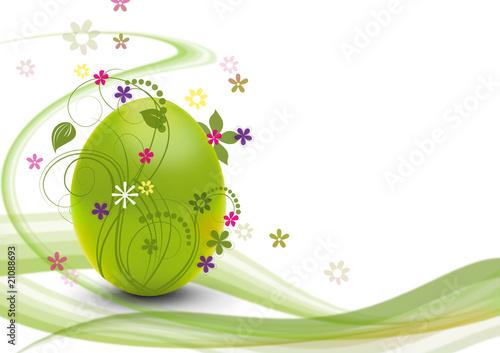 Leinwanddruck Bild Bunte Ostern in Grün