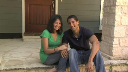 Latino couple on porch - 105