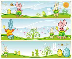 Easter Banners with space for your text