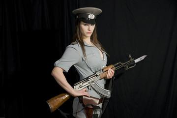 NVA Offizierin