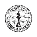 Chess tournament stamp poster
