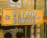 Eingang zum Saloon poster