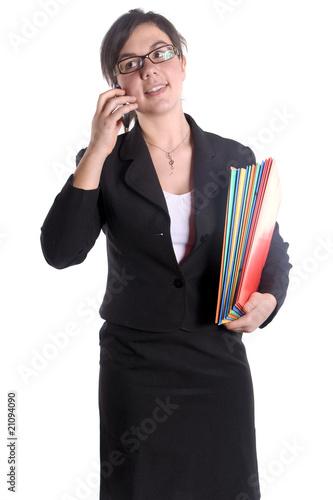 femme d 39 affaire en tailleur noir de magalice photo libre de droits 21094090 sur. Black Bedroom Furniture Sets. Home Design Ideas
