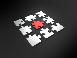 In der Mitte des Puzzles