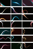 Blurry abstract light effect backgrounds. AI10 transparency poster