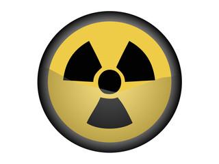 Señal Radioactividad Circular Amarilla