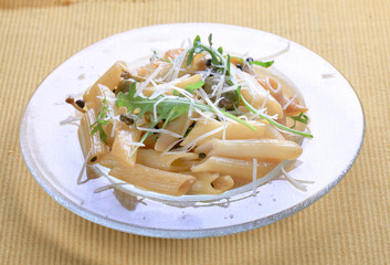Penne with pickled peppercorns and capers