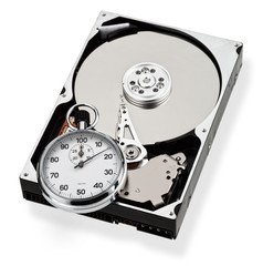 Hard disk with stopwatch