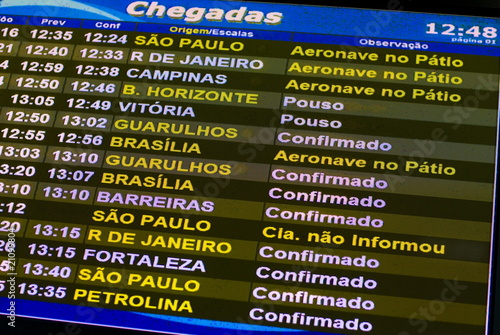 Flight information panel