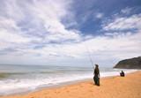 Un dia  en la playa de pesca poster