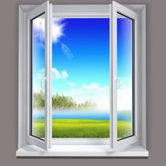 paesaggio dalla finestra