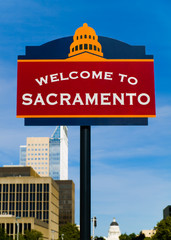 Welcome to Sacramento sign