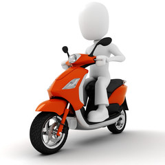 3d man on motorcycle.