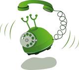 Fototapety Green phone and call