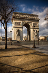 Beautiful view of the Arc de Triomphe, Paris