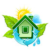 symbol of ecological house