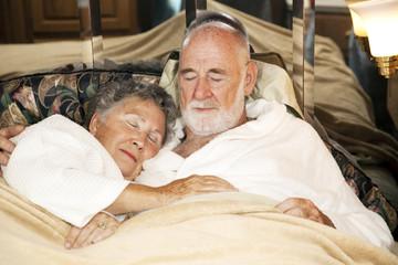 Sleeping Senior Couple