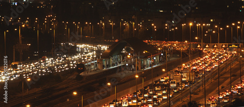 Congested traffic at night