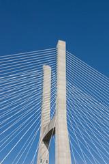 detail of  bridge in Lisbon, Portugal
