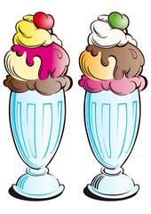 copas de helado