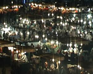 plaza jemma el fna marrakech noche tiempo real