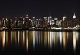 Fototapety Midtown (West Side) Manhattan at night (panoramic photo made of