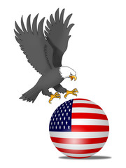 eagle grab usa ball