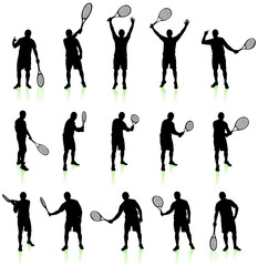 Tennis Player Silhouette Collection