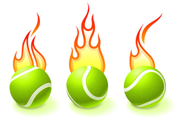 Fire Tennis Ball Collection