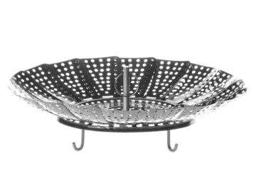 Stainless Steel Steamer Basket Isolated