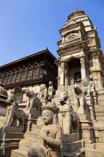 Stone Guardians, Bhaktapur, Nepal Poster