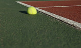 The impact - Tennis ball bouncing off the tennis court poster