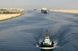 Ship passing through the Suez Canal - 21136402
