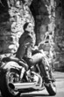 The young beautiful girl on a motorcycle