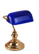 A classic bankers lamp isolated on a white background