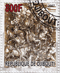 Stamp shows pic of Albert Durer