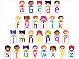 Fototapety Kids alphabet vector