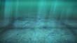 Deep underwater scene