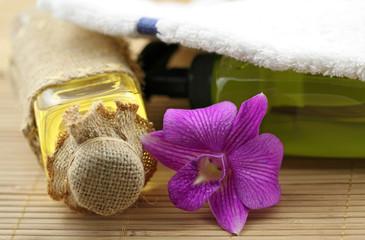 décor massage zen fleuri