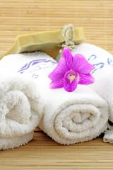 décor massage zen, fond bambou